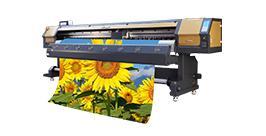 High speed 3.4m large format solvent printer, flex banner printing machine price