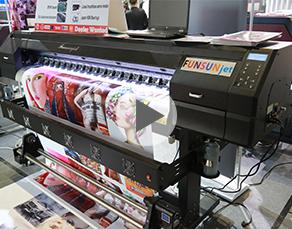 Funsunjet FS-1700K, 1.7m eco solvent printer with Epson DX5 head